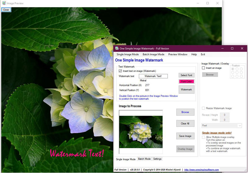 watermark your images, batch watermark images