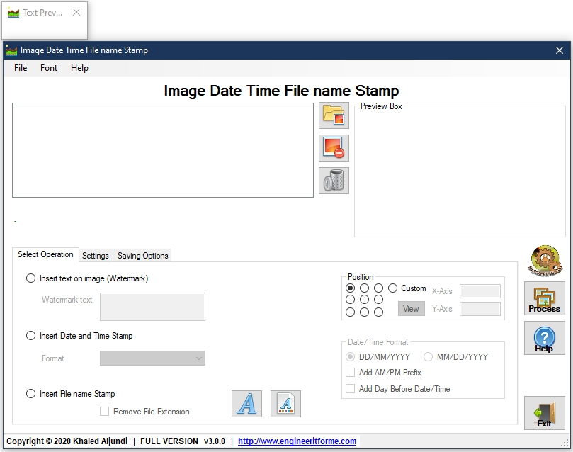 image date time stamp software