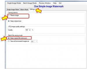 image watermark setting tutorial screen 1